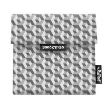 Porte casse-croûtes lavable et réutilisable Snack'n'Go - Tiles Black