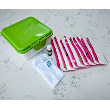 Kit complet - serviettes hygiéniques lavables - Ultra - Rose oiseaux et libellules