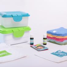 """Kit TE1 lingettes lavables - Coton Bio """" zero Twist """" - Arc en ciel"""