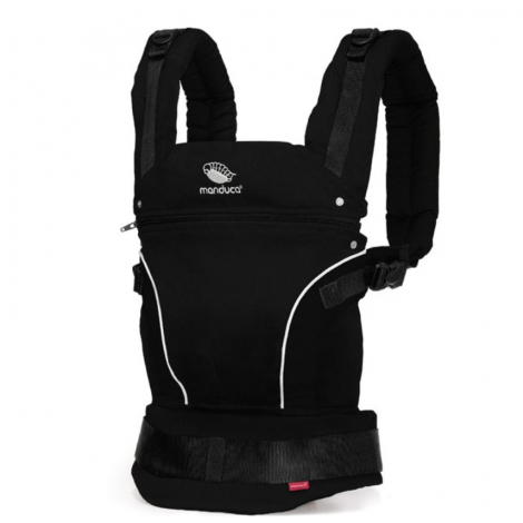 50caa60e731f Porte-bébé Baby carrier en coton BIO - Nigth black - SeBio