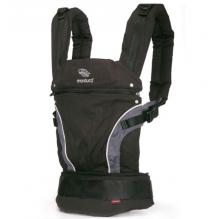 Porte-bébé Baby carrier en coton BIO - black