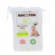 60 Maxi carrés bébé en coton Bio