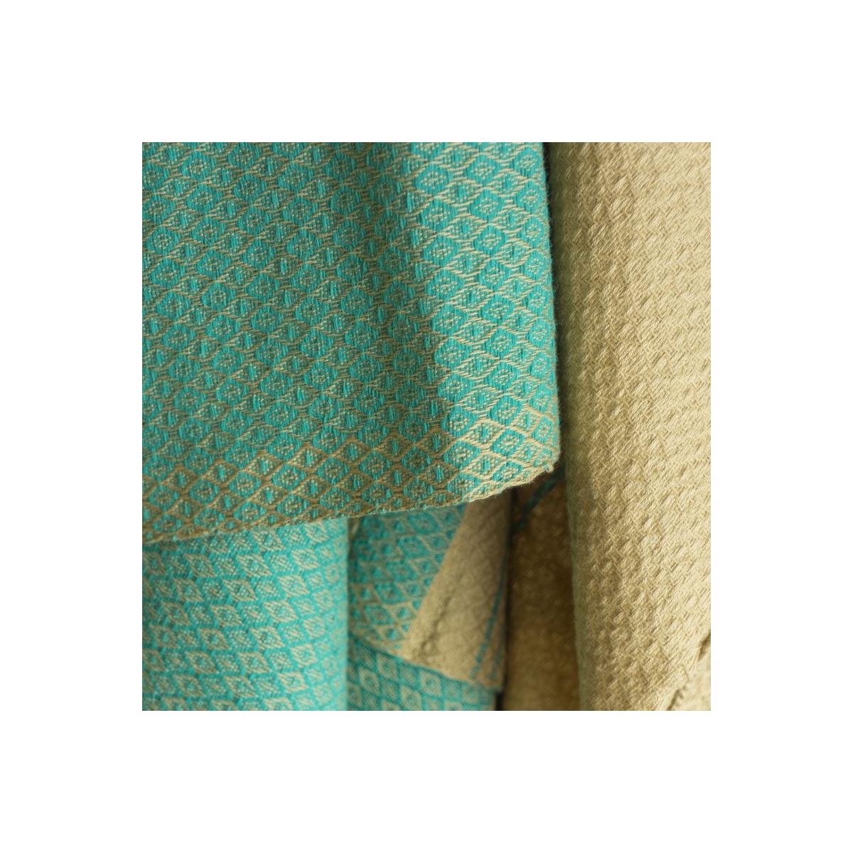 Fouta Sand en coton Bio Bleu alizé 100 x 200 cm - SeBio 2c563c5e4c1