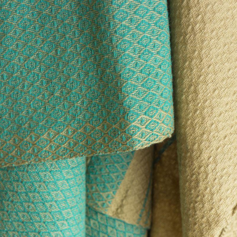 09c089b18699 Fouta Sand en coton Bio Bleu alizé 100 x 200 cm - SeBio