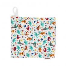 Sac à couches humides en coton BIO 28 x 26 cm avec tirette Circus