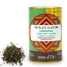 Thé blanc glacé Bio Caïpirinha Citron vert - Passion - 45 g