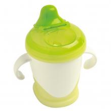 Tasse à bec anti-fuites Sourire Vert