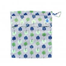 Kit de départ - serviettes hygiéniques lavables nuages - Pochette gris clair arbre