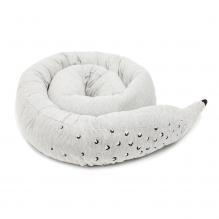 Tour de lit en coton Bio 200 cm Gris