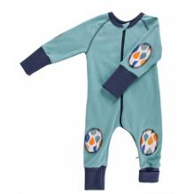 Pyjama / combi en coton 100% BIO certifié GOTS - Turquoise chiné