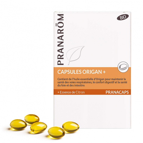 Capsules Origan+ Bio + Essence de citron 30 caps