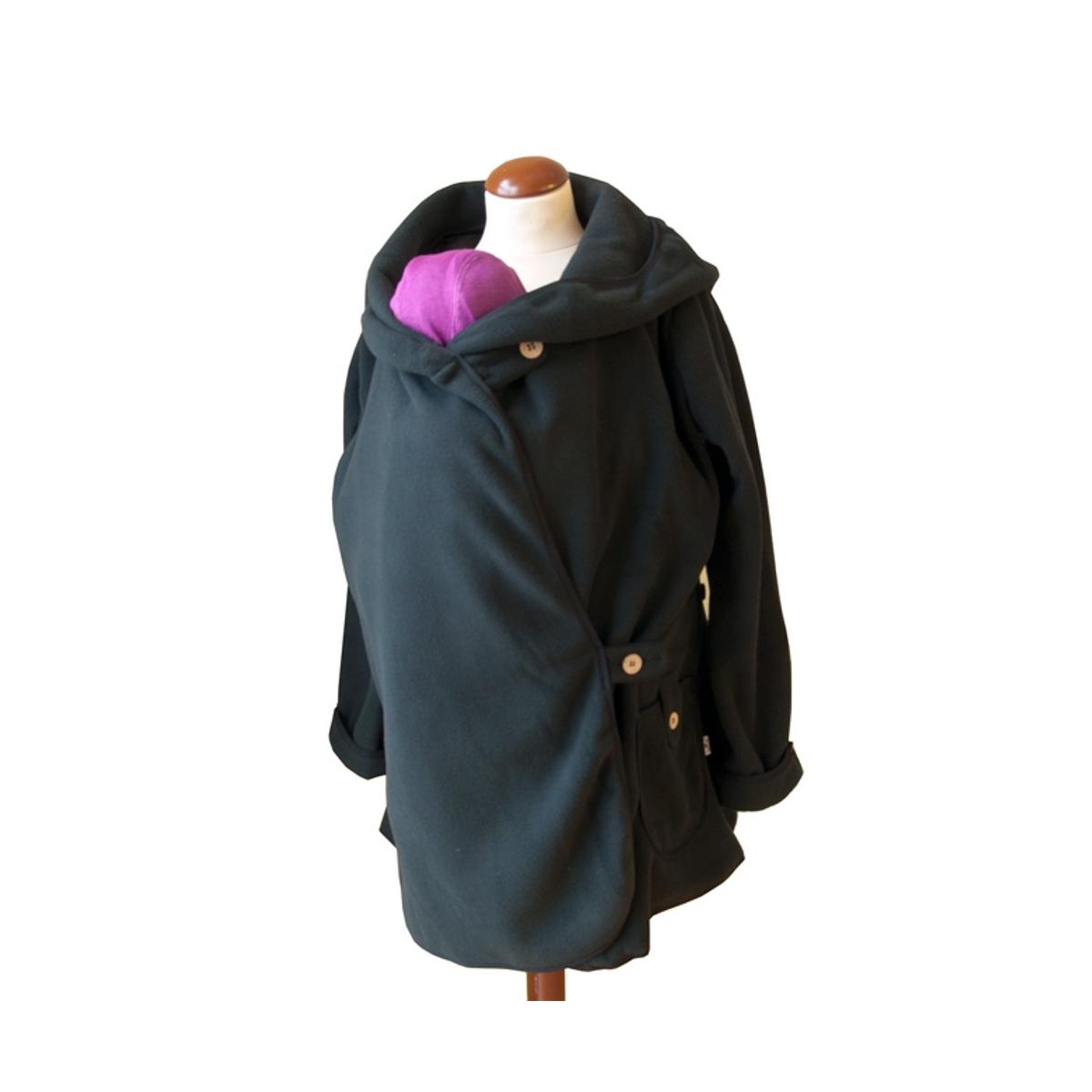 Manteau de maternité - Black solid - taille unique - SeBio 16753587284