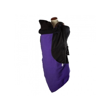 Couverture de portage Flex Vogue Exclusive + capuche - Dark Iris - SeBio 6352aef4d6c