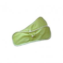 Serviettes hygiéniques lavables en chanvre - taille super (nuit) - lot de 2 - Lime