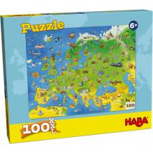 Puzzle 100 pièces - pays d'Europe - à partir de 6 ans