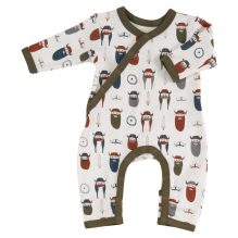 Pyjama écru longues manches en coton BIO - vikings