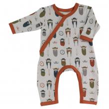 Pyjama gris longues manches en coton BIO - vikings