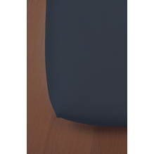 Drap Housse en Coton Bio - Pour lit double - bleu marine