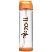 Bouteille d'eau avec paille Pip - 530 ml Orange
