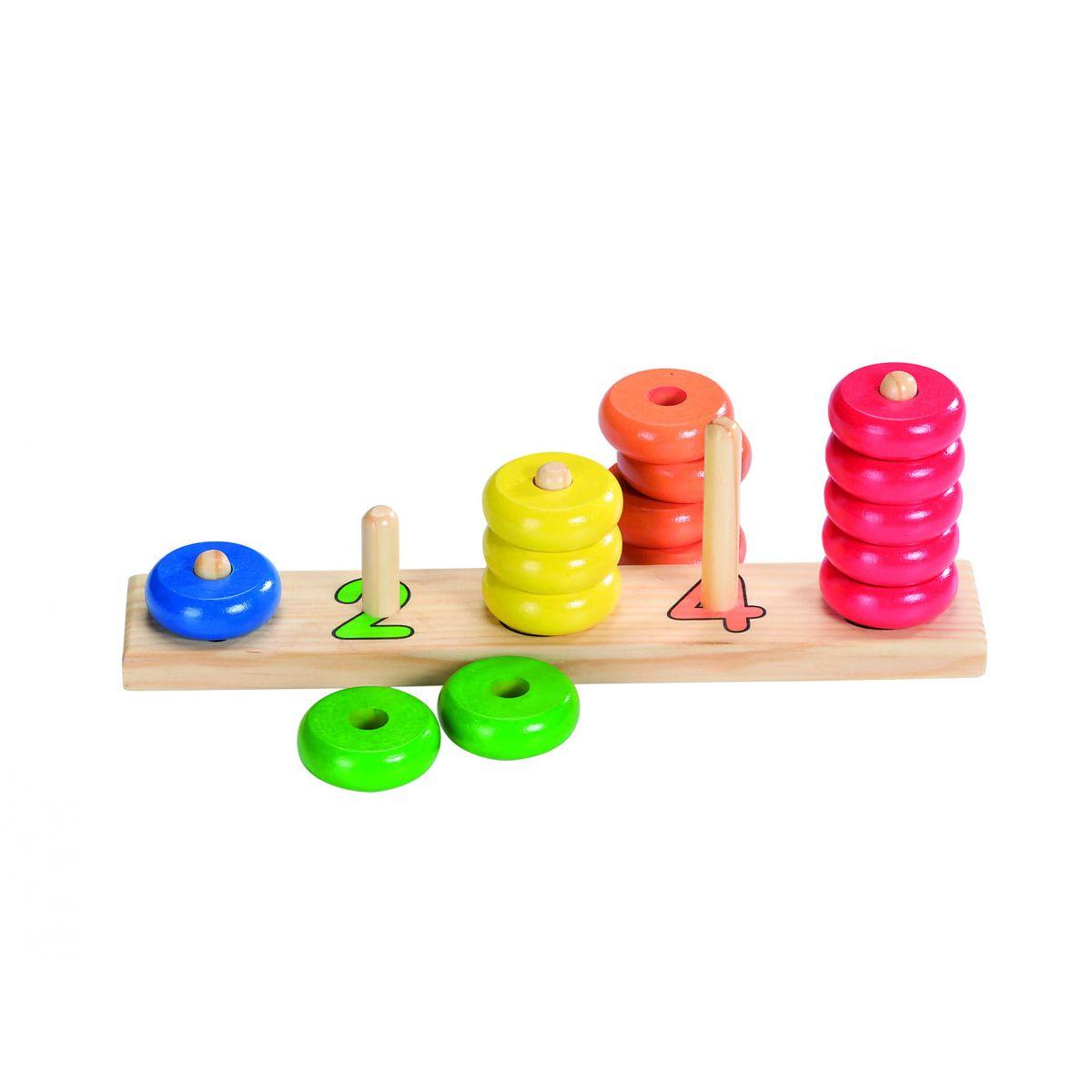 jeu ducatif en bois apprendre compter partir de 2. Black Bedroom Furniture Sets. Home Design Ideas