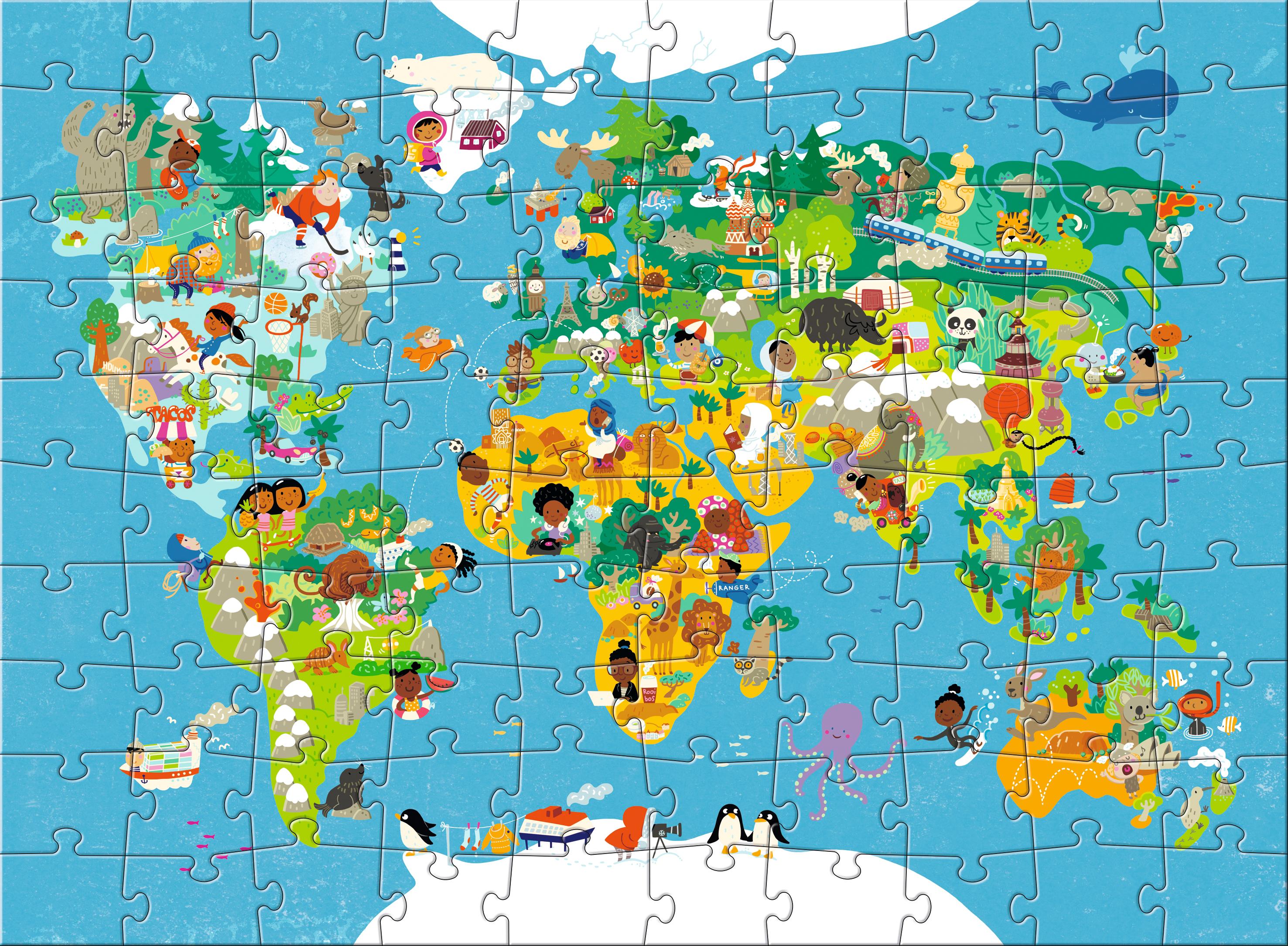 Puzzel wereldkaart 100 stuks vanaf 6 jaar sebio thecheapjerseys Images